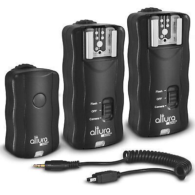Wireless Flash Trigger Kit (1 Trigger & 2 Receivers) for Nikon by Altura Photo®