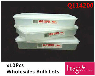 10pcs Meat Keeper Container Box Cold Food Storage Home Motel Restaurant Q114200