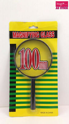 Magnifying Glass 100mm with Black Plastic Rim and Handle | 190mm long TOM-S220