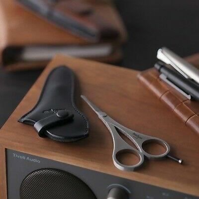 KAI☆Japan-Kershaw Nose Hair Safety scissors with Leather case
