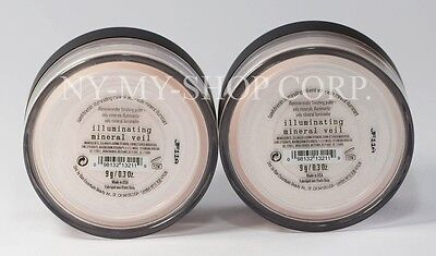Bare-Escentuals bareMinerals ILLUMINATING mineral veil 9g xl Powder - Lot of 2