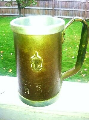 Handcrafted Hammered Copper Stein Cornell U. Fraternity Arts & Crafts Style
