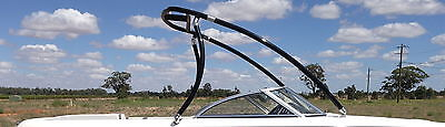 INDY Wakeboard Tower PRO with TWIN TOP BAR NO DRILLING TELESCOPIC TOP (BLACK)