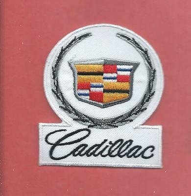 NEW 3 X 2 5/8 INCH CADILLAC IRON ON PATCH FREE SHIPPING
