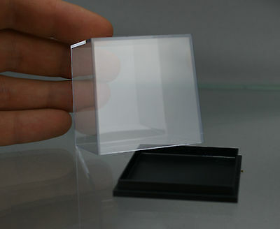 "NEW ACRYLIC DISPLAY BOX miniature 50 x 50 x 52 mm or 2"" x 2"" BLACK BASE 10pieces"