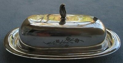International Silver Silverplate Springtime Covered Butter Dish