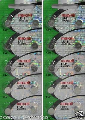 20 Pack Maxell LR41 192 1.5V AG3 Alkaline Button Cell Watch Batteries HOLOGRAM