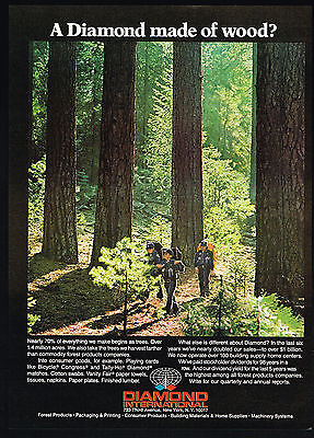 1979 Cub Scouts Hiking Woods Trees Diamond International Print Ad