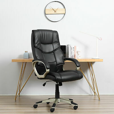 Executive Computer Office Desk Chair PU Leather Swivel Chairs High Back