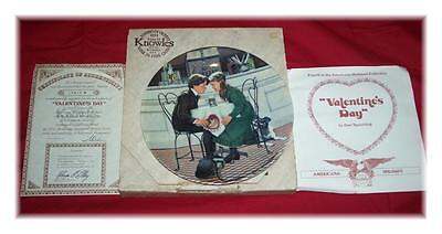 NEW 1981 KNOWLES St. Valentines Day PLATE by Don Spaulding with COA NIB