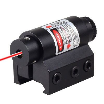 New Mini Red Laser Sight For Rifle Scope Airsoft 20mm Weaver Picatinny Mount