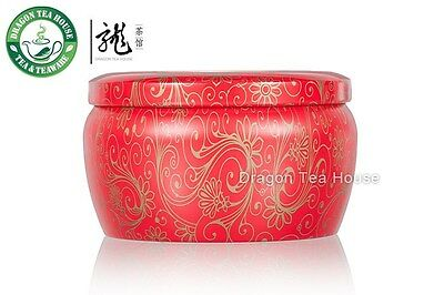 Red Blossom Troditional Japanese Metal Tea Tin Canister