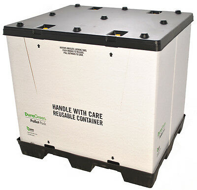 "DuraGreen 40"" x 48"" x 45"" Pallet-Pack Container (1 Door)"