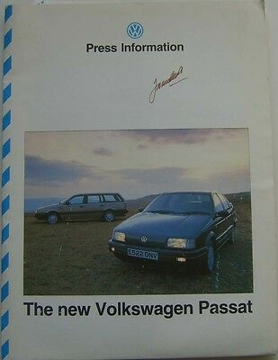 VW Volkswagen Passat Mk 3 Saloon & Estate 1988 Original UK Launch Press Kit