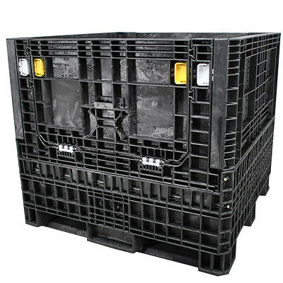 "DuraGreen 45"" x 48"" x  42"" Heavy-Duty Collapsible Bulk Container (2 Doors)"