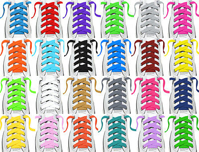 "FLAT Athletic Sports Sneaker Shoelace Strings 36"", 45"", 54"" Inch Laces for Shoes"