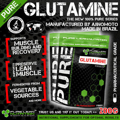 L-Glutamine 200G Micronised Highest Quality 100% Pure * Muscle Recovery * Bcaa
