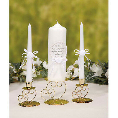 Double Heart Unity Candle Holder Stand Set By Victoria Lynn