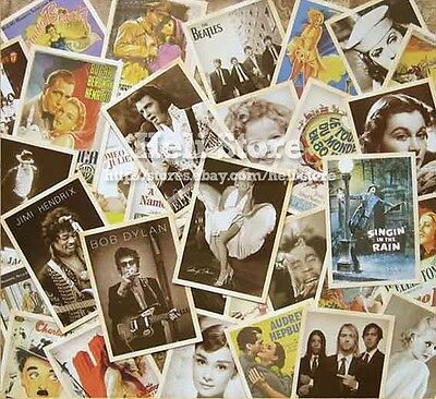 Lot of 32 postcards Actress Movies Rock Stars Postcard Vintage Post cards Album