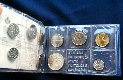 1989 Italy S Marino complete official set UNC with silver
