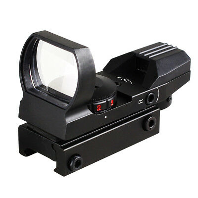 Holographic 4 Reticle Red/Green Dot Tactical Reflex Sight Scope W/ 20mm Mount