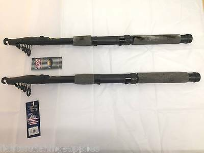 2 x New Lineaeffe Carbon Telescopic Oxygen FISHING Rods 3.6M 12FT Rods