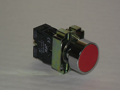 Red Stop Push Button 1 N/c Contact 22Mm  Panel Mounting New & Boxed !!!!  Pta14