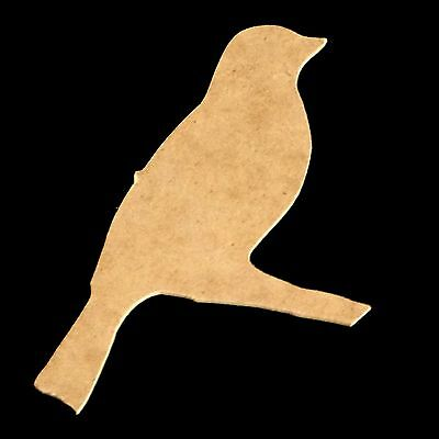 Bird on Branch Unfinished Wood Shape Cut Out Variety of Sizes USA Made Animal