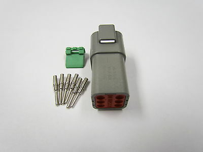 Deutsch DT Gray 6 Pin Male Connector Kit 20-16 GA Made In USA
