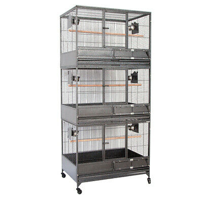 Triple Stackers Breeding Bird Parrot Cage Aviary 2M