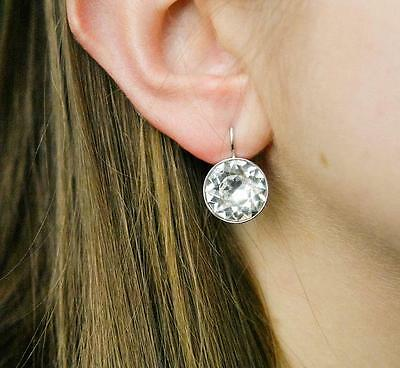 8915586bd Large Bella Earrings Made with Swarovski Crystal Gold Silver Plated Bezel  Lever