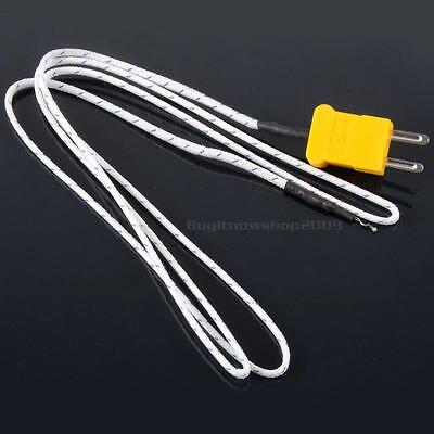 1PCS K Type Thermocouple Probe Sensor For Digital Thermometer 1M BYWG
