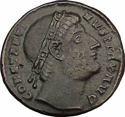 Constantine I 'The Great' 327AD Ancient Roman Coin Victory Over Licinius i43992