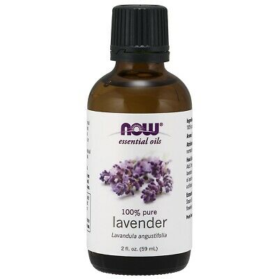 NOW FOODS 100% Pure Lavender Essential Oil 2 oz (59 ml), FRESH, MADE IN USA