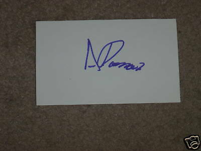 Andres Romero Golfer Signed 3x5 index Card