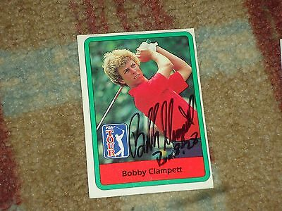 Bobby Clampett Signed 1982  Golf Card