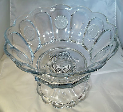 "Fostoria Coin Crystal #1372 1-1/2 Gallon 14"" Diameter Punch Bowl & Footed Base!"