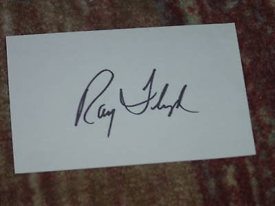 Ray Floyd Signed 3x5 index Card
