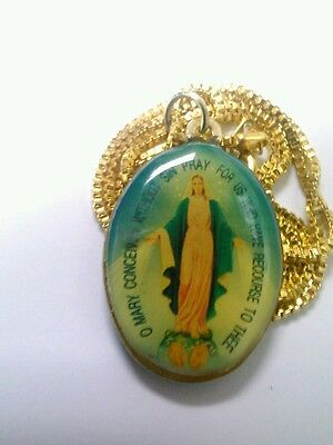 Mary Pendant Necklace Religious Piece Awesome Great Gift Add To Collection