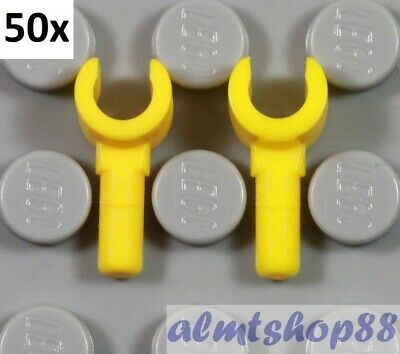 LEGO - Lot of 40 (20 Pairs) Yellow Minifigure Hands - Body Parts Arms City Bulk