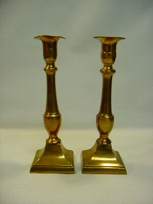 """~* Pair of Antique FEDERAL ea.1800's Ore Bronze Candle Holders Candlesticks 8.5"""""""