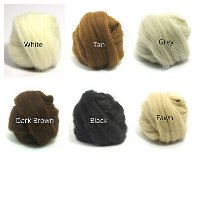 Heidifeathers® Baby Alpaca - Felting + Spinning Wool Tops - Choose From 6 Shades