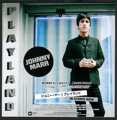 2014 Johnny Marr Playland JAPAN album promo ad / advert clipping the smiths j12r