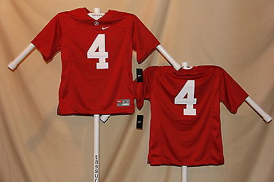 ALABAMA CRIMSON TIDE sewn #4  Nike FOOTBALL JERSEY  Youth Large  NWT  $65 retail