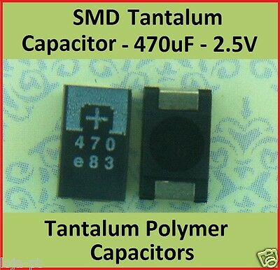 SMD 470uf 2.5 Volts Tantalum Capacitors Polymer  - Part # 2R5TPE470M9  PANASONIC