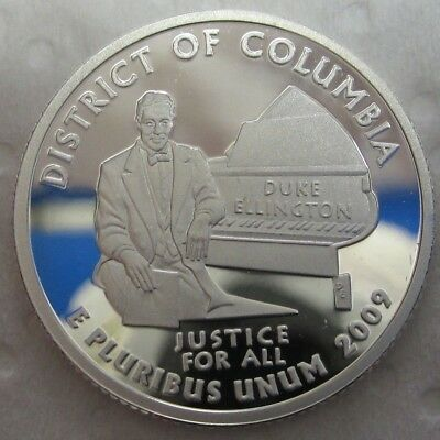 2009 S District of Columbia Quarter - Gem Proof Deep Cameo - 90% Silver