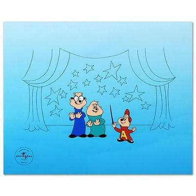 1970-Now Universal ALVIN AND THE CHIPMUNKS Sericel Cel Animation Art LE