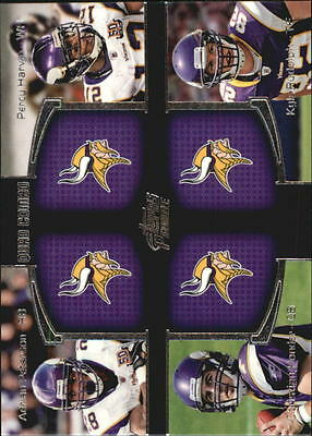 2011 Topps Prime Quad Adrian Peterson/Percy Harvin/Christian Ponder/Kyle Rudolph