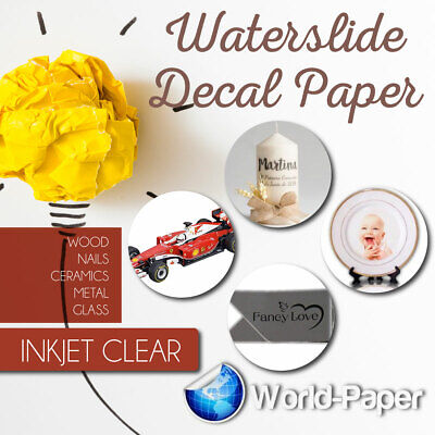 INKJET CLEAR  WATERSLIDE Model, Ceramic, Decal Paper 10 sheets 8.5x11