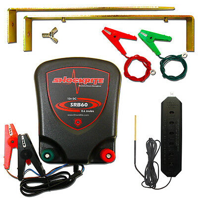Electric Fence Energiser 12v ShockRite SRB60 0.6 Joule Battery Fencer + Tester